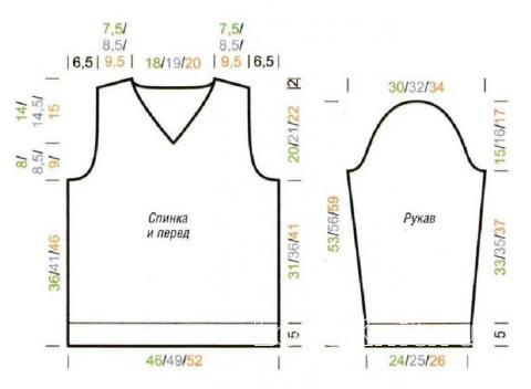 Схема вязания джемпер с полосатыми рукавами для подростка раздел для детей детские кофты, жакеты и тд