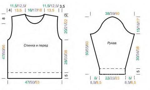 Схема вязания джемпер в полоску для подростка раздел для детей детские кофты, жакеты и тд