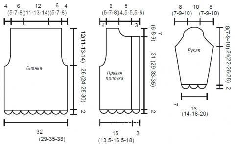Схема вязания кардиган для девочки пуговицах раздел для детей детские кофты, жакеты и тд