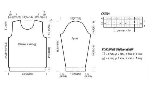 Схема вязания классический джемпер с узором зигзаг для мальчика раздел для детей детские кофты, жакеты и тд
