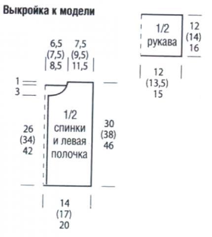 Схема вязания кофта с ажурным узором на пуговице раздел для детей детские кофты, жакеты и тд