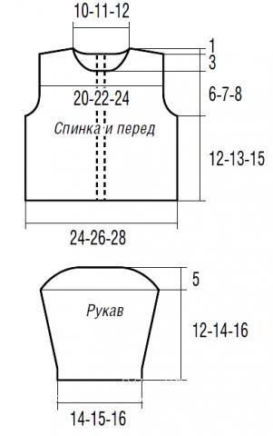 Схема вязания кофта с ажурным воротничком и застежкой на спине раздел для детей детские кофты, жакеты и тд