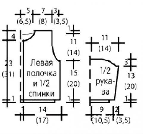Схема вязания кофта для малыша с вертикальным узором раздел для детей детские кофты, жакеты и тд