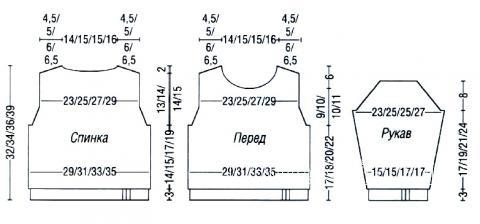 Схема вязания кофта для ребенка и жилет с капюшоном раздел для детей детские кофты, жакеты и тд