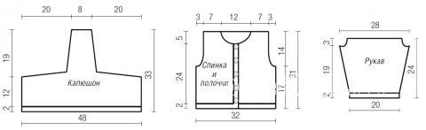 Схема вязания кофта в полоску с капюшоном для ребенка до года раздел для детей детские кофты, жакеты и тд