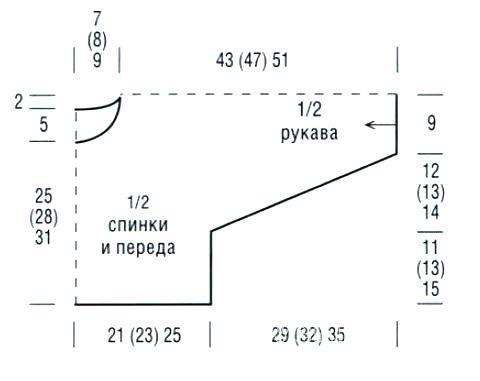 Схема вязания короткий джемпер в полоску раздел для детей детские кофты, жакеты и тд