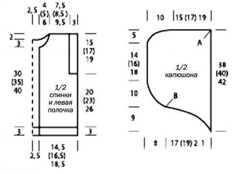 Схема вязания меланжевая безрукавка с капюшоном раздел для детей детские кофты, жакеты и тд
