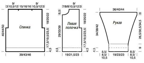 Схема вязания объемная кофта для ребенка с отложным воротничком раздел для детей детские кофты, жакеты и тд