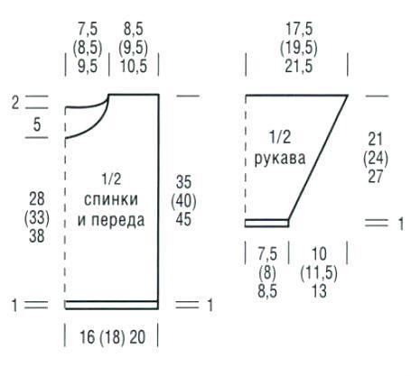 Схема вязания полосатая кофта с воротником гольф раздел для детей детские кофты, жакеты и тд