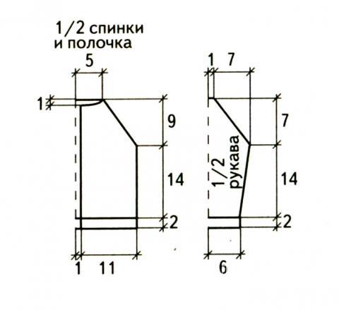 Схема вязания полосатая кофточка для ребенка раздел для детей детские кофты, жакеты и тд