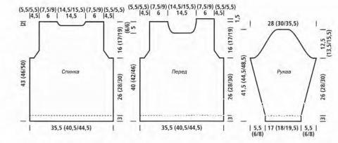 Схема вязания полосатый пуловер патентным узором раздел для детей детские кофты, жакеты и тд