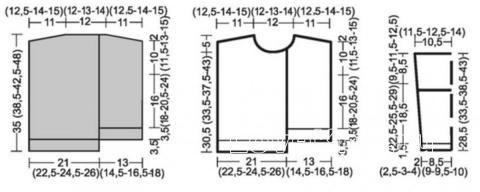 Схема вязания пуловер со швами наружу для маленькой модницы раздел для детей детские кофты, жакеты и тд