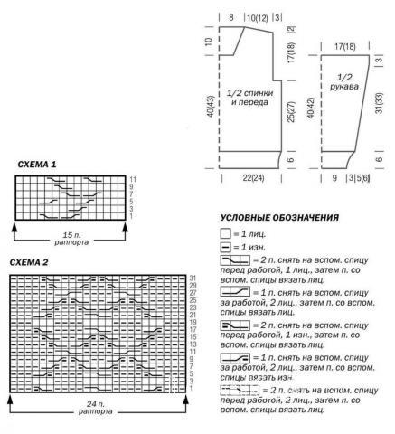 Схема вязания свитер для подростка с центральной косой раздел для детей детские кофты, жакеты и тд