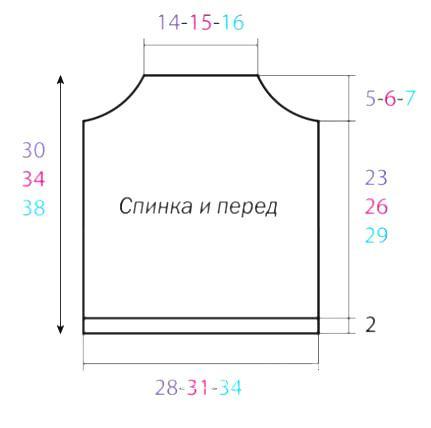 """Схема вязания топ с рисунком """"ананас"""" раздел для детей детские кофты, жакеты и тд"""