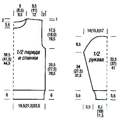 Схема вязания удлиненный детский свитер и шапочка раздел для детей детские кофты, жакеты и тд