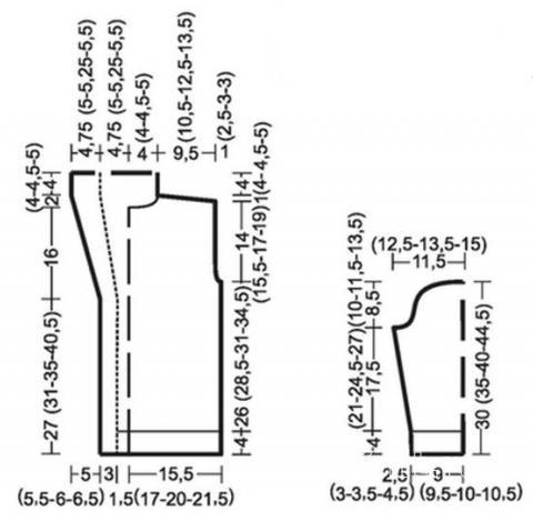 Схема вязания жакет для мальчика с косами   раздел для детей детские кофты, жакеты и тд