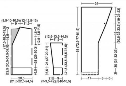 Схема вязания жакет с капюшоном и вышивкой раздел для детей детские кофты, жакеты и тд