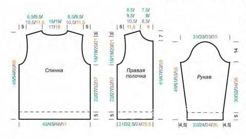 Схема вязания жакет на молнии с карманами кенгуру раздел для детей детские кофты, жакеты и тд