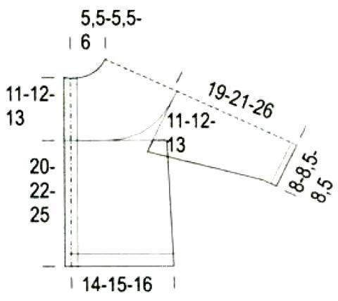 Схема вязания жакет с накладными карманами для ребенка раздел для детей детские кофты, жакеты и тд