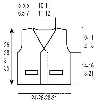 Схема вязания жилет для ребенка с объемной бахромой раздел для детей детские кофты, жакеты и тд