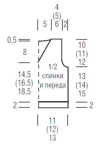 Схема вязания жилет с контрастной отделкой для мальчика раздел для детей детские кофты, жакеты и тд