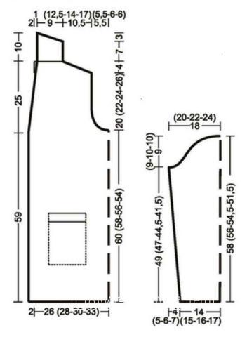 Схема вязания длинный мужской кардиган с карманами раздел для мужчин мужские кофты спицами