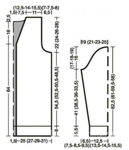 Схема вязания длинный мужской кардиган с накладными карманами раздел для мужчин мужские кофты спицами