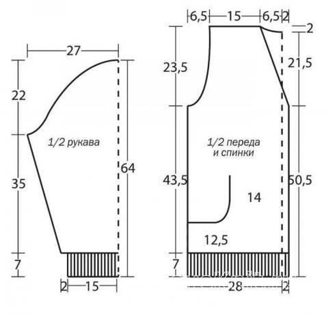 Схема вязания меланжевый мужской жакет с карманом раздел для мужчин мужские кофты спицами