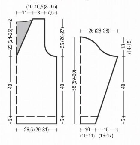 Схема вязания мужская кофта в широкую полоску с v-образным вырезом раздел для мужчин мужские кофты спицами