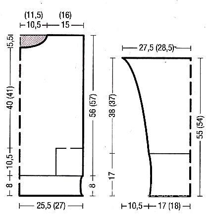 Схема вязания мужской двухцветный джемпер  раздел для мужчин мужские кофты спицами