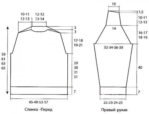 Схема вязания мужской джемпер с косами раздел для мужчин мужские кофты спицами