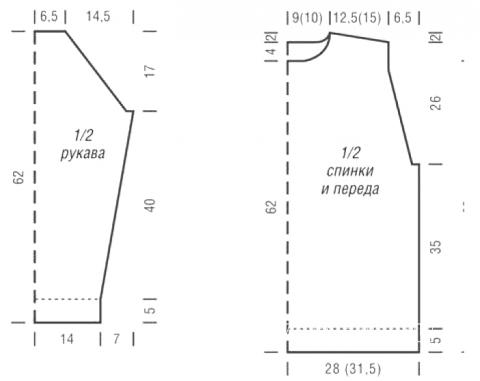 Схема вязания мужской джемпер с узором из кос раздел для мужчин мужские кофты спицами