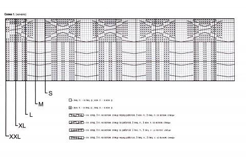 Схема вязания мужской джемпер с узором раздел для мужчин мужские кофты спицами