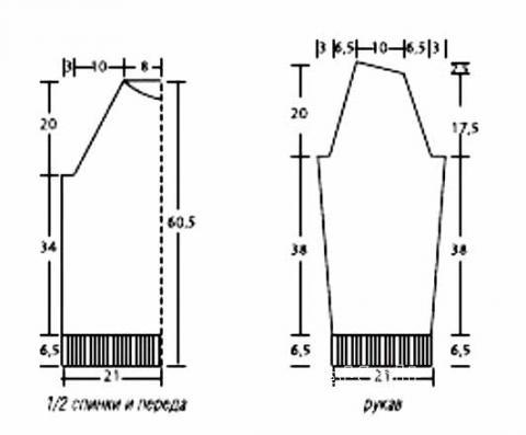 Схема вязания мужской классический свитер раздел для мужчин мужские кофты спицами