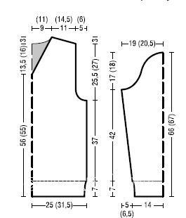 Схема вязания мужской меланжевый джемпер с v-образным вырезом раздел для мужчин мужские кофты спицами