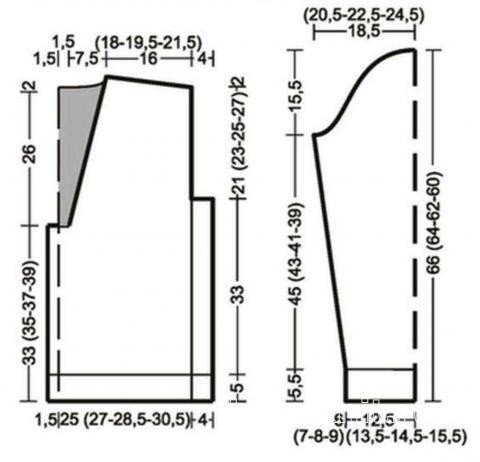 Схема вязания мужской приталенный жакет с шалевым воротником раздел для мужчин мужские кофты спицами