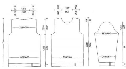 Схема вязания мужской пуловер с рельефным узором раздел для мужчин мужские кофты спицами