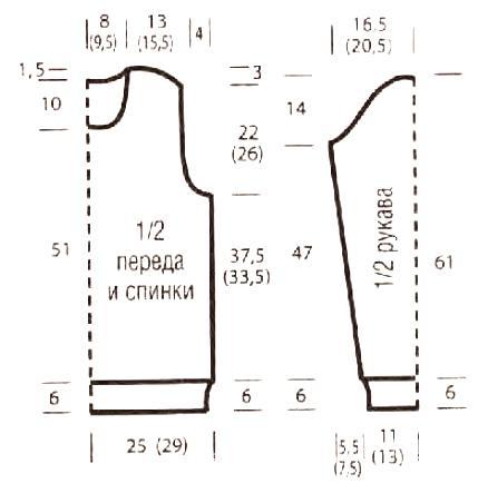 Схема вязания мужской рельефный джемпер с косами раздел для мужчин мужские кофты спицами