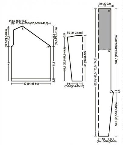 Схема вязания мужской свитер с асимметричным вырезом горловины раздел для мужчин мужские кофты спицами