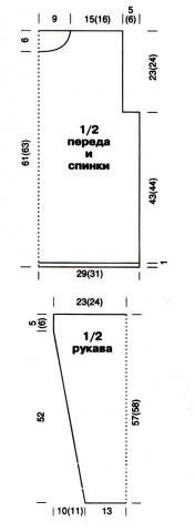 Схема вязания мужской свитер с рельефным узором раздел для мужчин мужские кофты спицами