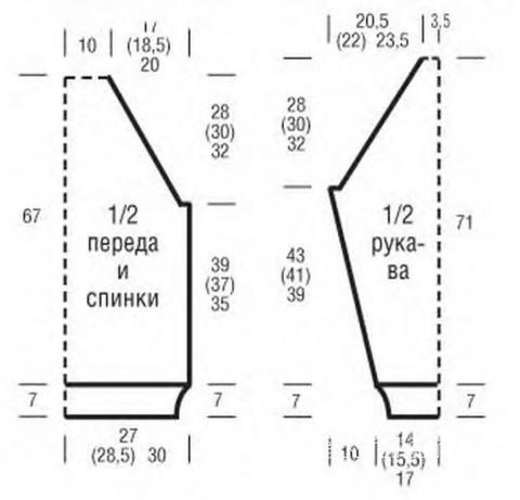 Схема вязания полосатый пуловер с объемным рисунком раздел для мужчин мужские кофты спицами