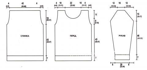 Схема вязания приталенный мужской пуловер с круглым воротником раздел для мужчин мужские кофты спицами