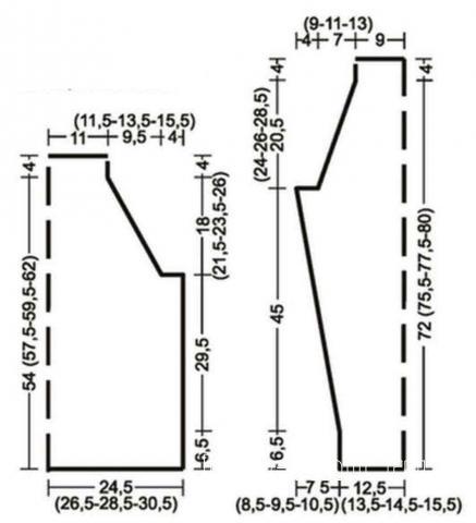 Схема вязания приталенный пуловер в рубчик для мужчины раздел для мужчин мужские кофты спицами