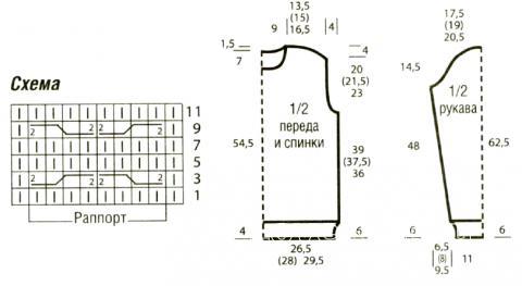 Схема вязания трехцветный мужской джемпер с вафельным узором раздел для мужчин мужские кофты спицами