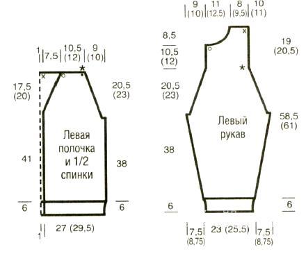 Схема вязания удлиненный мужской кардиган с v-образным вырезом раздел для мужчин мужские кофты спицами