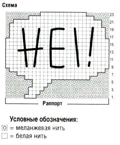 Схема вязания шапочка с рисунком и помпоном раздел для детей детские шапочки