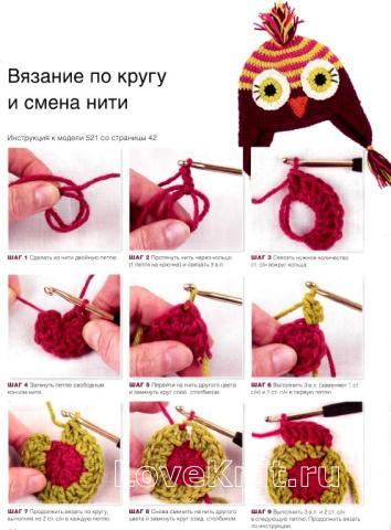 Схема вязания шапочки для детей с наушниками раздел для детей детские шапочки