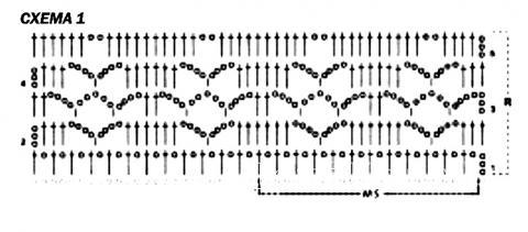 Схема вязания лиловый сарафан для маленькой девочки раздел для детей детские платья, сарафаны