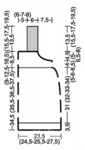 Схема вязания полосатый сарафан для девочки раздел для детей детские платья, сарафаны