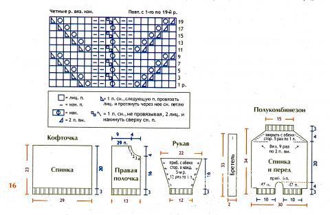 Схема вязания детский белый комбинезон и ажурная кофточка раздел для детей детские штанишки
